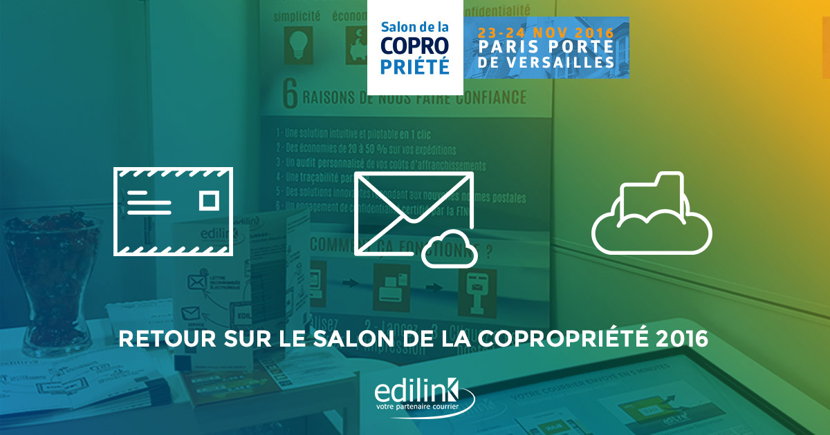 Retour sur le salon de la copopri t 2016 edilink for Salon de la photo 2016