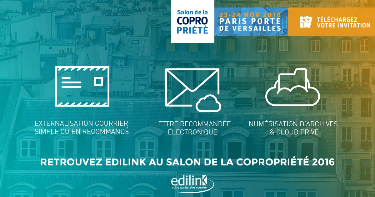 Edilink participe au salon de la copropri t 2016 edilink for Salon de la photo 2016